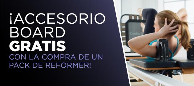 Accesorio Board Gratis con la compra de un Pack Reformer Pilates
